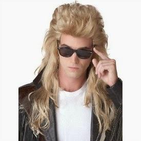 80s Rock Star Mullet Wig