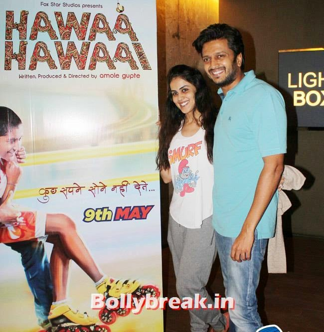 Ritesh Deshmukh and Genelia D Souza, Huma Qureshi & Others at Hawaa Hawaai Special Screening at Lightbox