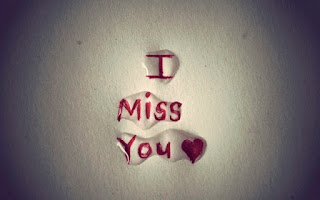 i miss you red text on the plain paper & water drops on the text