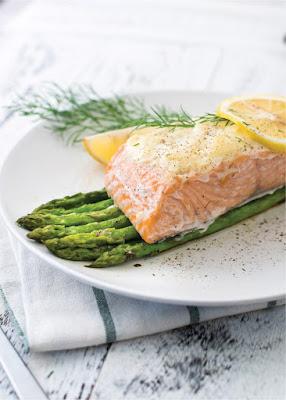 Parmesan Salmon Bake with Asparagus Recipe (how long at 350)