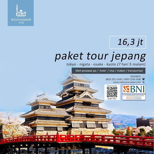 PAKET TOUR JEPANG  TOKYO - NIGATA - OSAKA - KYOTO