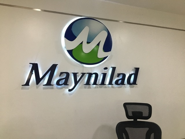 Maynilad Built Up Lighted Stainless Steel Signage