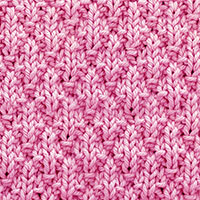 Seersucker Knit Purl. A quick and easy stitch that uses basic stitches (knit, purl) to create a pretty three dimensional, leaning diamonds design.