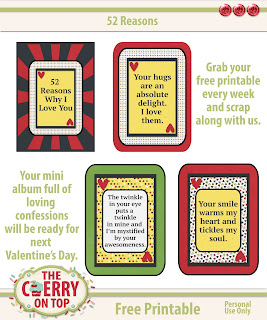Free Printable Cards for 52 reasons