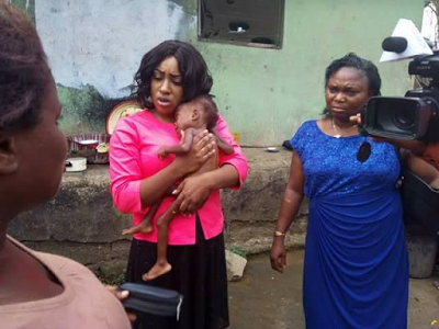 Photos: Nigerian doctor rescues severely malnourished child and her 16-year-old mother in Calabar 1