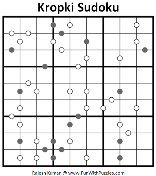 Kropki Sudoku Puzzle (Daily Sudoku League #206)