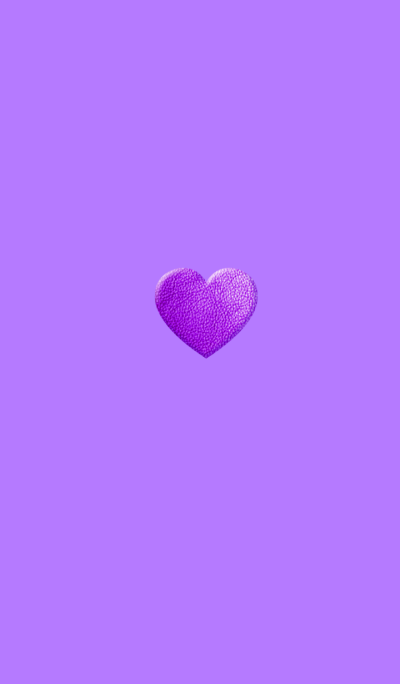Simple Leather Purple Heart