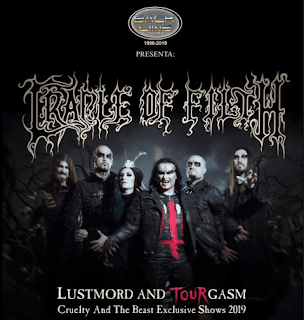 Concierto de Cradle of filth en Bogotá 2019