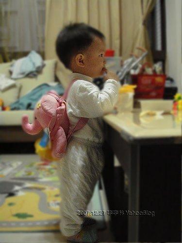 看巧虎學習的幼兒