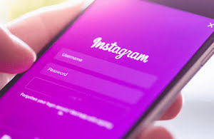 Instagram login screen
