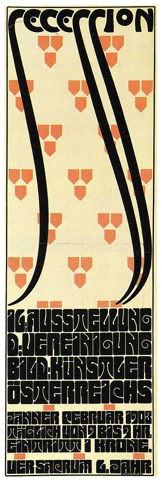Alfred Roller 1903 secession poster in color