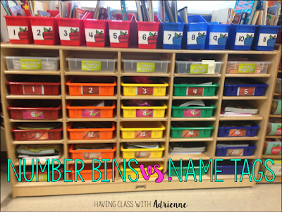 classroom organization management numbered bins cubbies