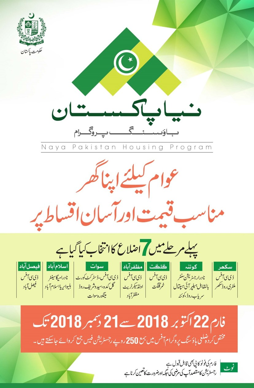 Naya Pakistan Housing Programme: How to apply as registration form issued