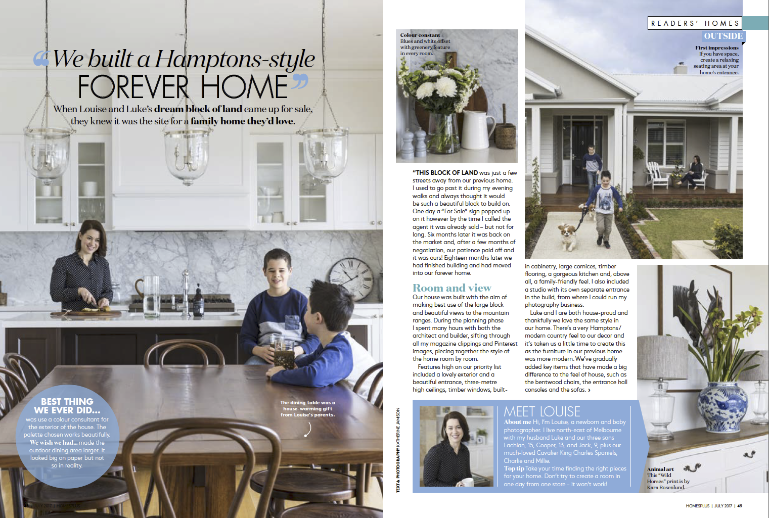 Home + Magazine - July Issue - Our Hampton Style Forever Home