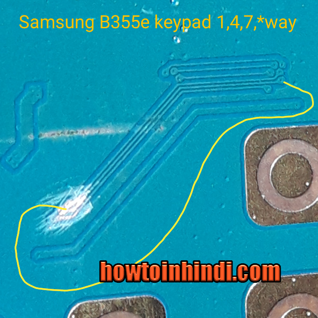 Samsung B 355e kepad problem solution