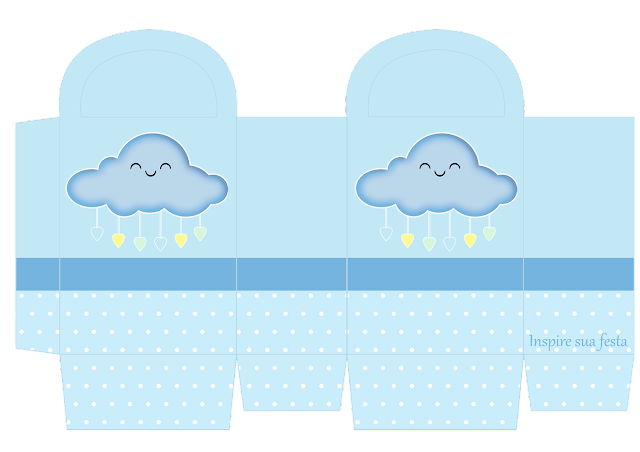 Rain of Blessings in Light Blue and Yellow Free Printable Box.