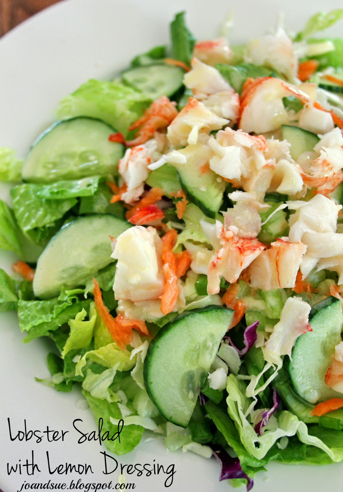 Jo and Sue: Lobster Salad With Lemon Dressing