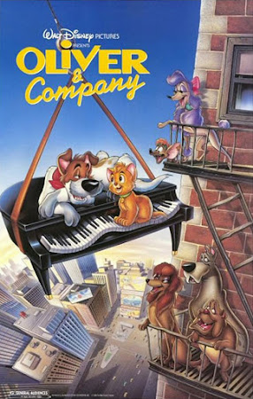 Poster Of Oliver & Company In Dual Audio Hindi English 300MB Compressed Small Size Pc Movie Free Download Only At worldfree4u.com