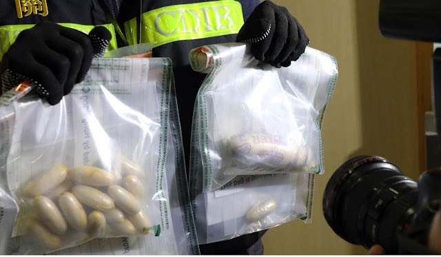 Half of a kilogram cocaine found in woman's body at the Airport