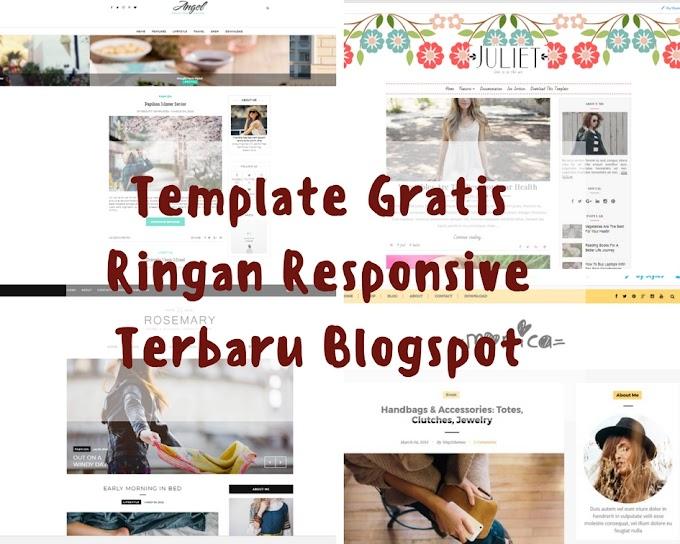 Template Gratis Ringan Responsive Terbaru Blogspot Part 1