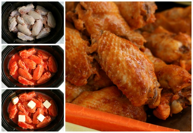 Crock Pot Buffalo Chicken Wings | The Two Bite Club