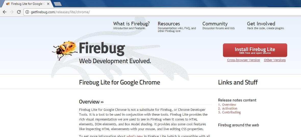 firebug pour google chrome gratuit