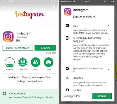 Install Aplikasi Instagram