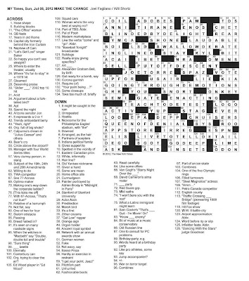 The New York Times Crossword in Gothic: 07.08.12 — Make