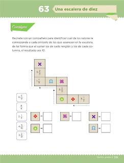 Apoyo Primaria Desafíos Matemáticos 5to Grado Bloque IV Lección 63 Una escalera de diez