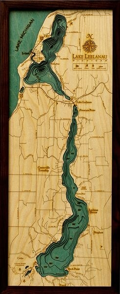 buy lake leelanau 3d wood maps