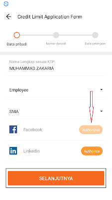 cara mengisi pekerjaan di aplikasi akulaku
