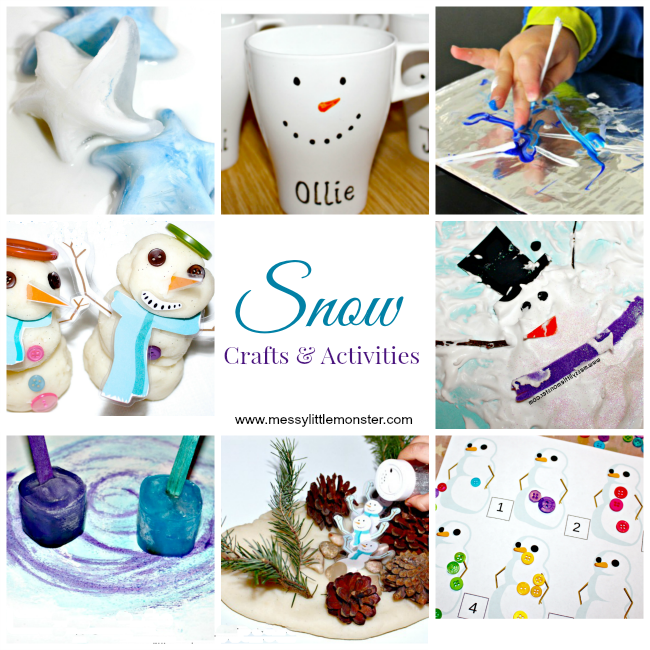 Snow crafts for kids and snow activities for kids. Snowman crafts, snowflake crafts, real snow activities. Winter project ideas for toddlers, preschoolers and big kids.