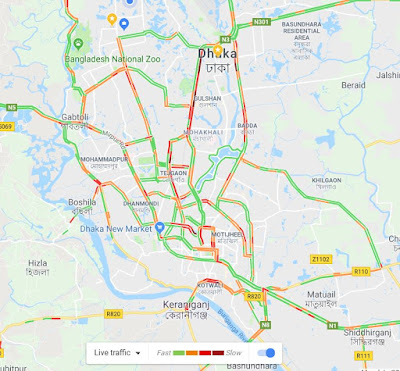 google traffic is featuring on google maps to show the live road traffic conditions in real time though google live traffic giving us the information about
