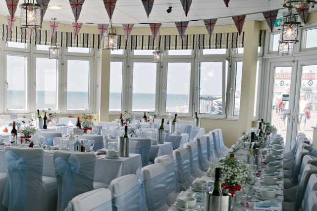 Tides Restaurant Cromer on wedding day