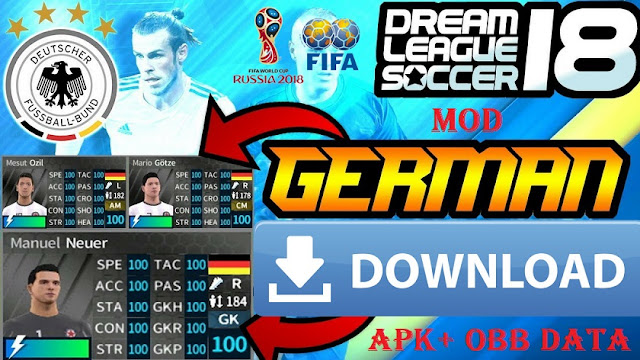 Download DLS 2018 Mod Germany Android Fifa World Cup Russia