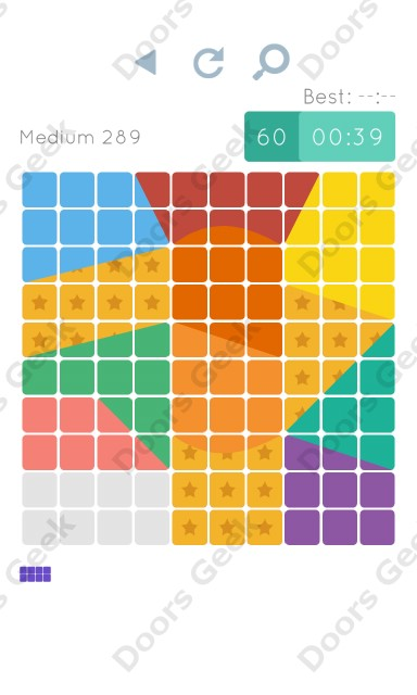 Cheats, Walkthrough for Blocks and Shapes Medium Level 289