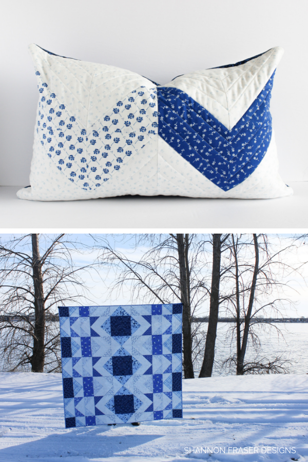 Modern Aztec Quilt + Pillow | Briar Hill Designs' Bequest Maker's Tour | Shannon Fraser Designs | Modern Quilts