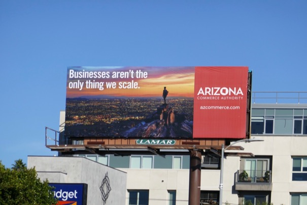 Businesses arent only thing we scale Arizona Commerce billboard