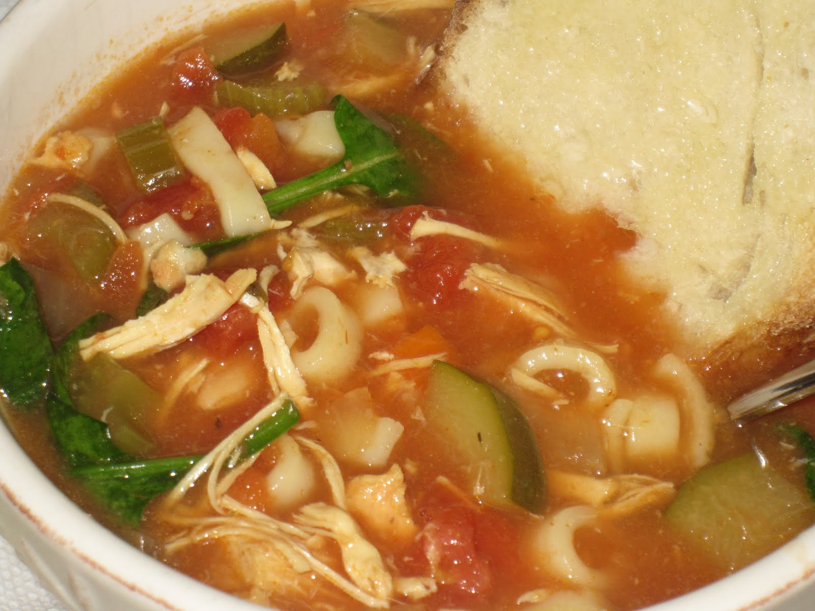 Kim's Recipe Book: Crockpot Tomato Vegetable Soup with Chicken