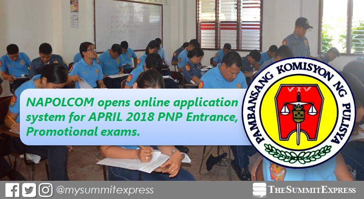 NAPOLCOM opens April 22, 2018 OLEASS Online Application Scheduling