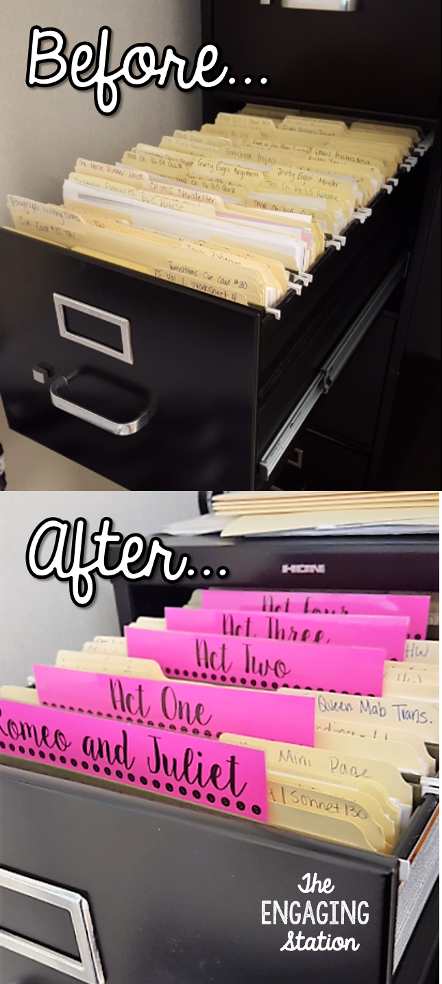 Filing Cabinet Organization ~ The Engaging Station