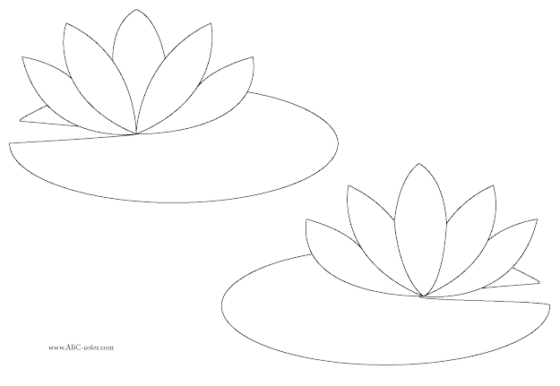 Free Water Lilies Coloring Pages To Print For Kids Download Print And  Color