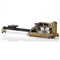 Water Rower A1 S4 NATURAL WaterRower Rowing Machine, with water flywheel in enclosed tank, self-regulating resistance, aluminum monorail, S4 monitor, ash wood frame