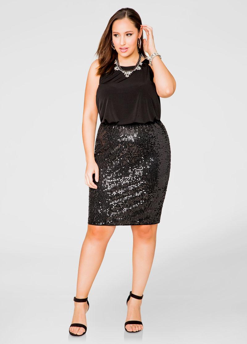 how style black a line plus size skirt lurap fashion