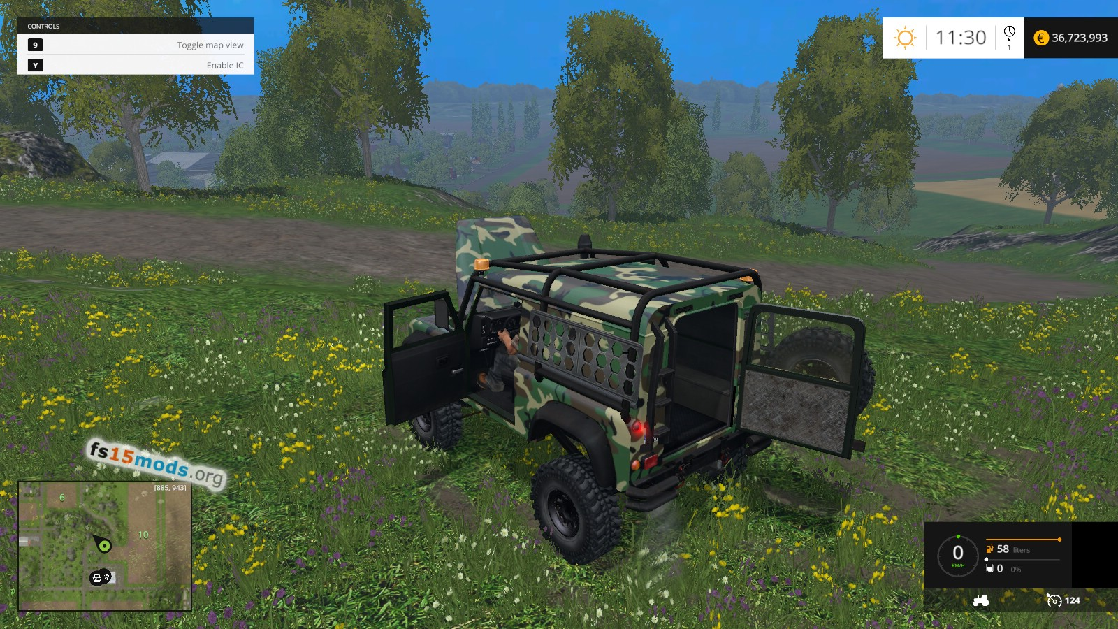Army Land Rover Defender Fs15 Mods