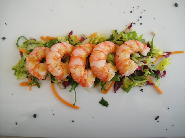 warm shrimp salad at Buca di Bacco in Positano
