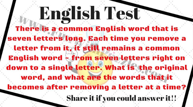 Fun Word Riddle to test your intelligence