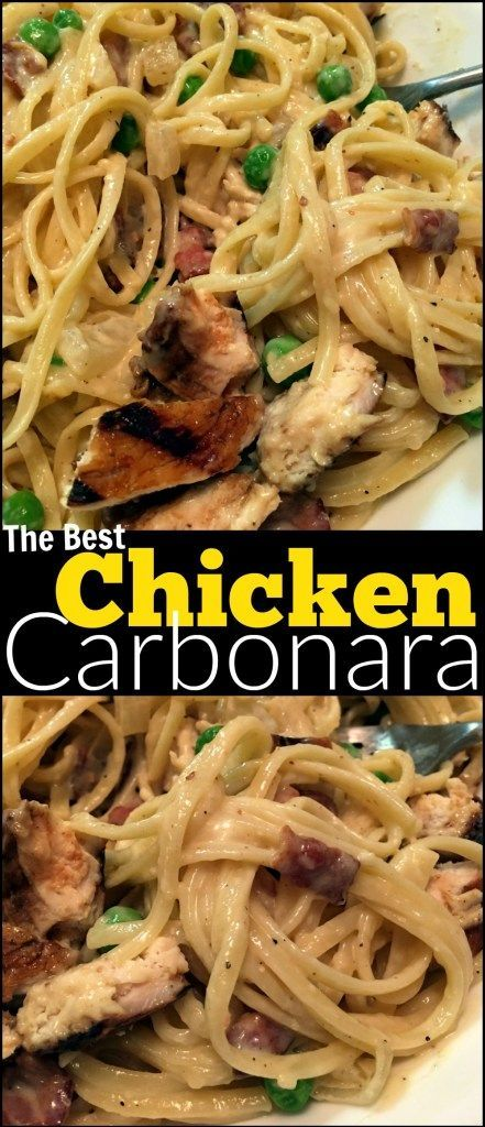 Chicken Carbonara #chicken #chickenrecipes #carbonara #pasta #pastarecipes #easypastarecipes