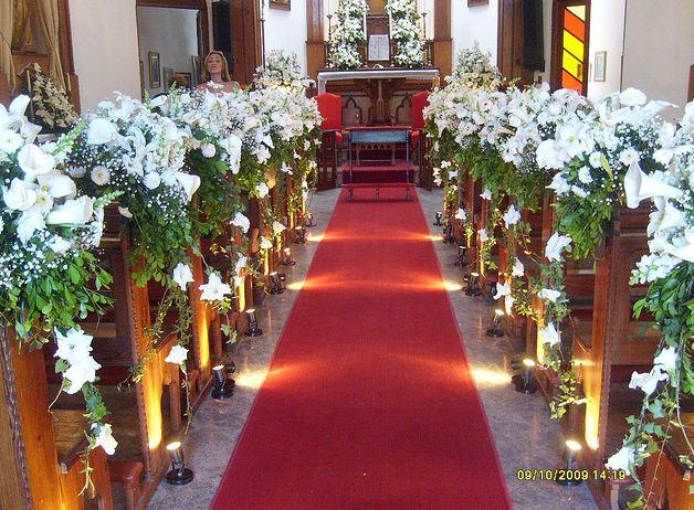 Tati e Fred casaram! Together Forever Decoraç u00e3o Igreja [Checked] -> Decoração Para Primeira Comunhão Na Igreja