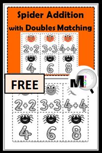 https://www.teacherspayteachers.com/Product/Doubles-Addition-Spider-Math-Doubles-Facts-329059